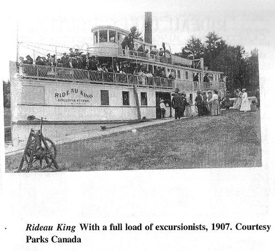 Steamer Rideau King in 1907