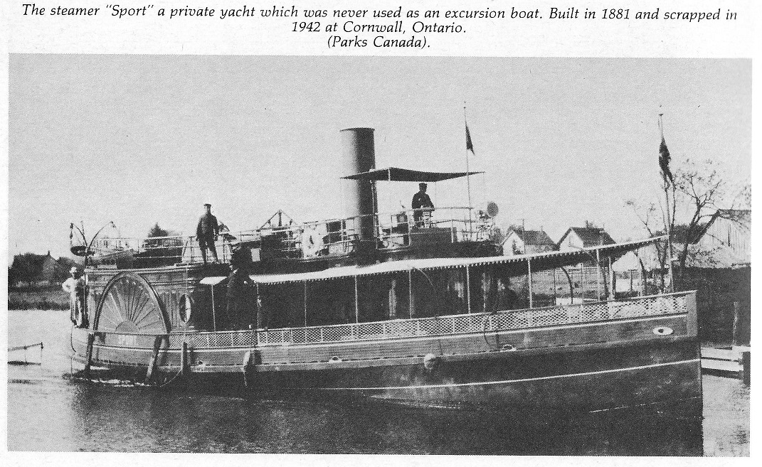 The Steamboat <I>Sport</I>, 1881 to 1942