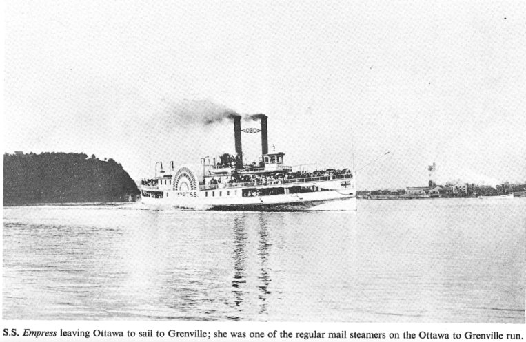 The steamer Empress, Ottawa, Ontario to Grenville, Quebec