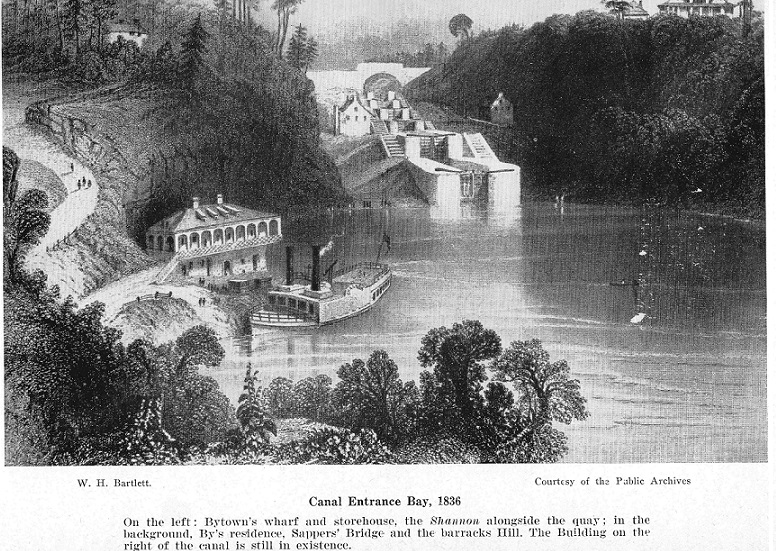 Steam Boat Shannon at Entrance Bay in 1836