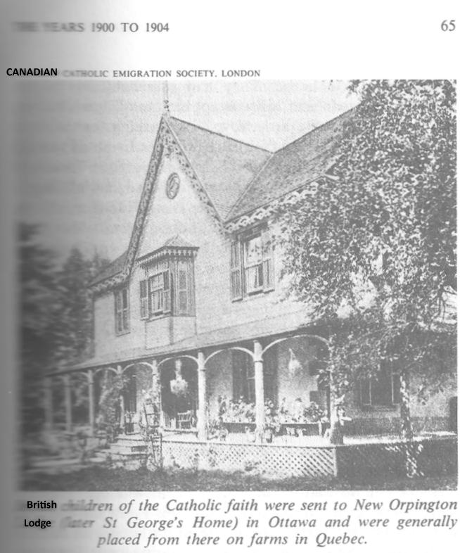 New Orpington Place (Later called St. George's Home) for British Home Children in Ottawa, Ontario, Canada