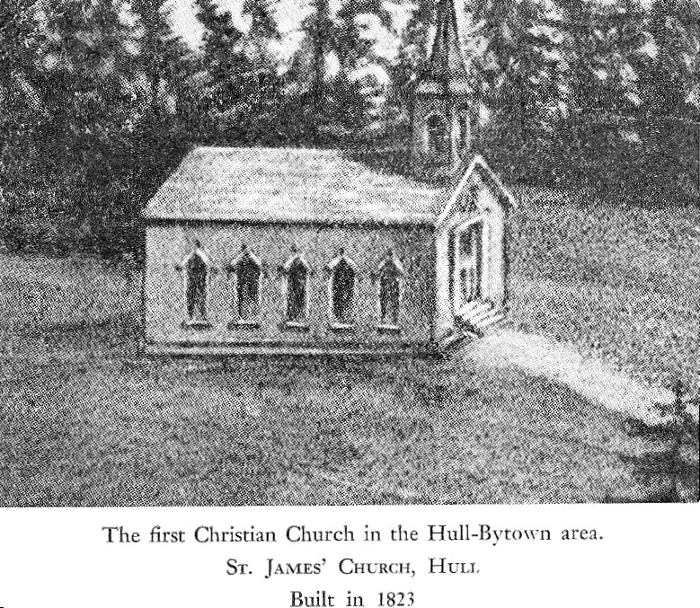 St. James Church in Hull, Quebec, Canada, 1823