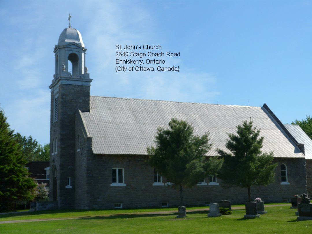 St. John the Evangelist Church at Enniskerry, Ontario