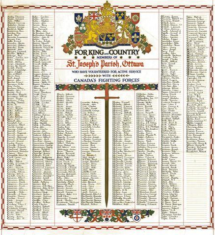 St. Joseph's Church veteran's memorial book, Ottawa, Ontario, Canada