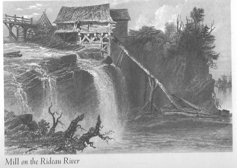 Mill at Rideau Falls, 1830 built and owned by Jean Baptiste St. Louis pic
