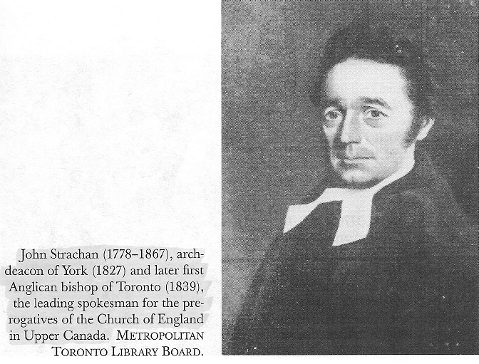 John Strachan, Archdeacon of York, Upper Canada, Bishop of Toronto
