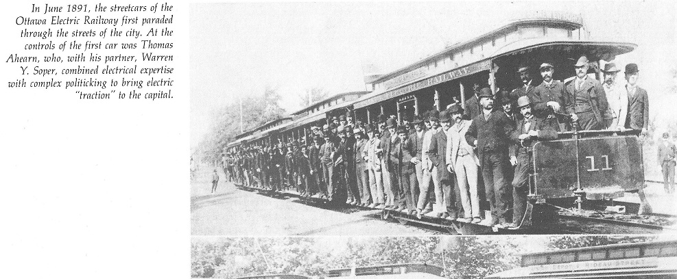 Streetcar, first electric in 1891