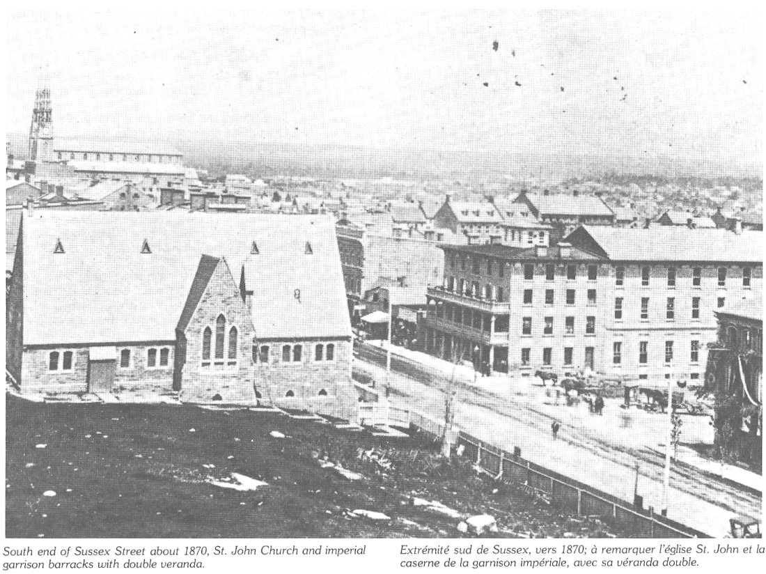 Sussex Street in 1870