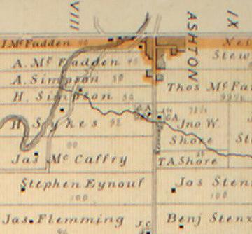 Farm of Hiram Sykes, Goulbourn Township, Ontario, Canada, in 1879