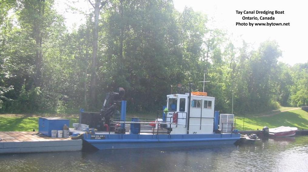 Dredging Boat on the Tay Canal, Ontario, Canada