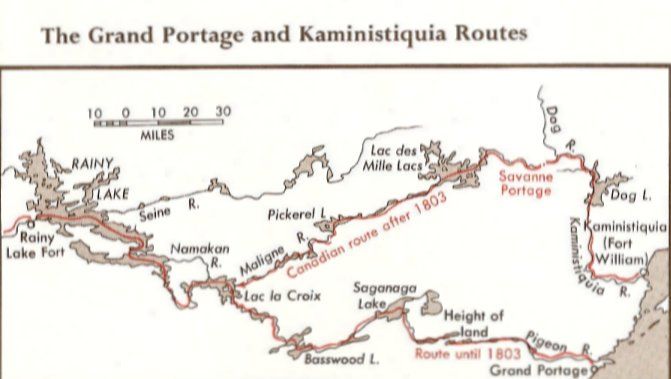 Portage Routes, Lake Superior to Rainy River