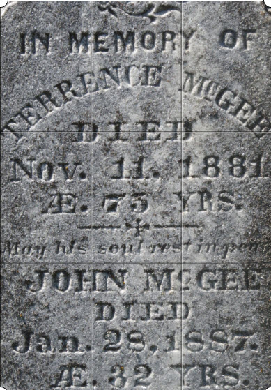 Grave marker for Terrence McGee,