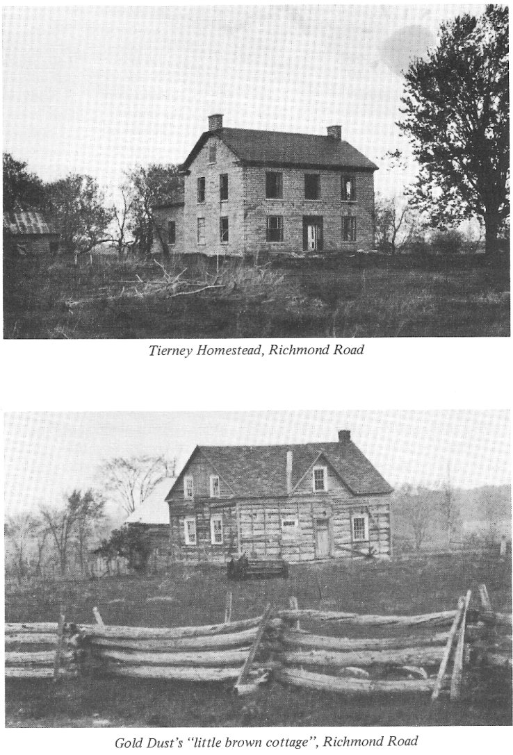 Tierney Homestead, Richmond Road, Ontario, Canada. Also Gold Dust Tierney's Log Cabin