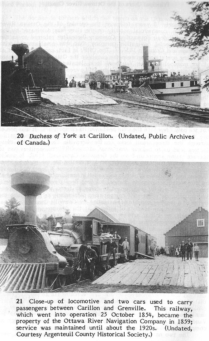 Two photos at the Carillon Dam
