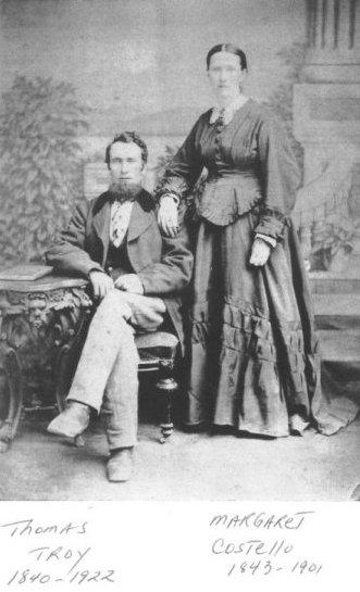 Thomas Troy and Margaret Costello, Nepean Township, Ottawa, Ontario, Canada
