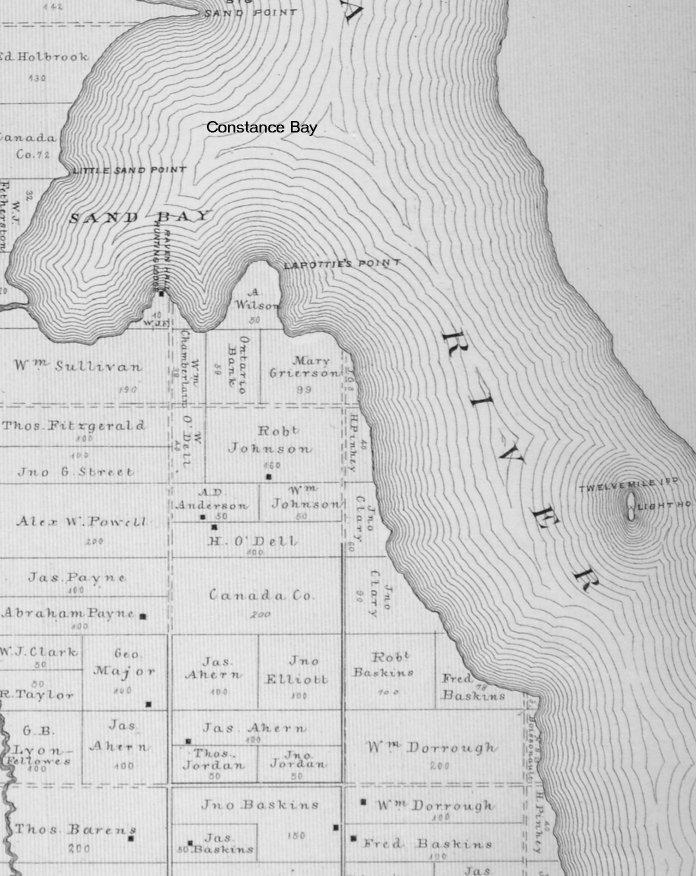 Map of Twelve Mile Island