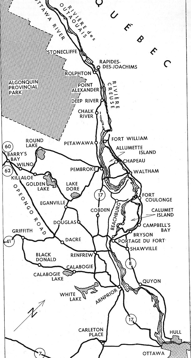 Upper Ottawa Valley Map from the Text Book