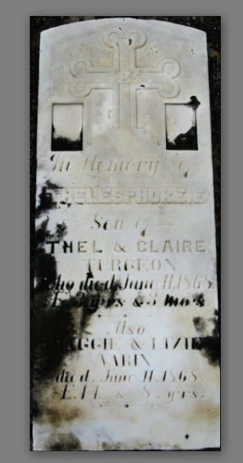 St. Mary's Cemetery at Almonte, Ontario, Canada - Gravemarker for Varin and Turgeon
