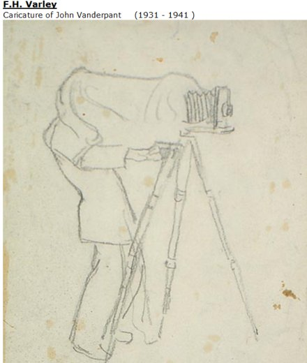 Sketch of a Photographer by Frederick H. Varley