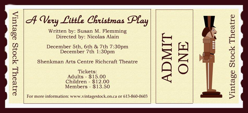 Vintage Stock Theatre Presentation for Christmas, 2013
