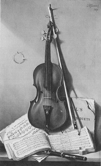 Violin picture in 1890
