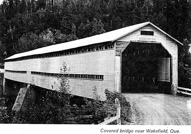 Picture of Covered Bridge at Wakefield, Quebec, Canada