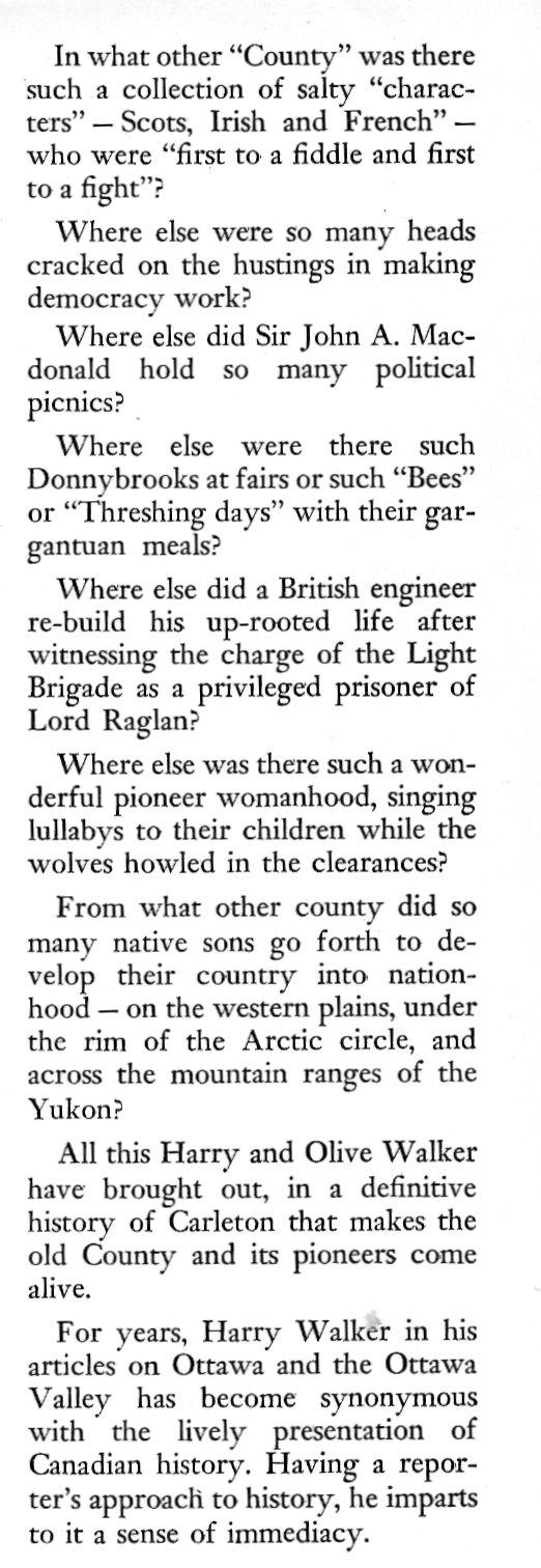 Excerpt from <U>Carleton Saga</U>