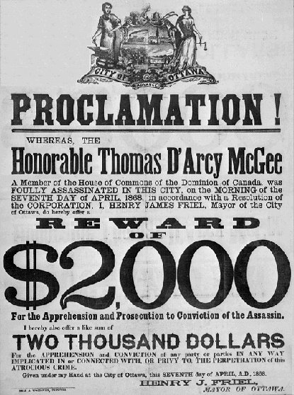 Thomas Darcy McGEE -- Father of Confederation in Canada, 1867