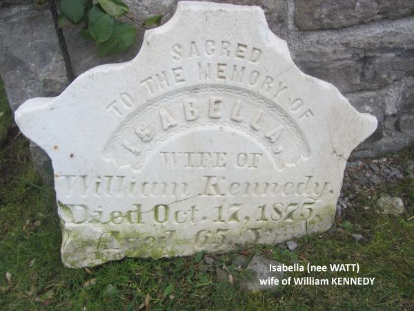 Tombstone for Isabella Watt Kennedy