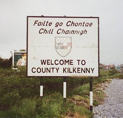 Welcome to County Kilkenny, Ireland