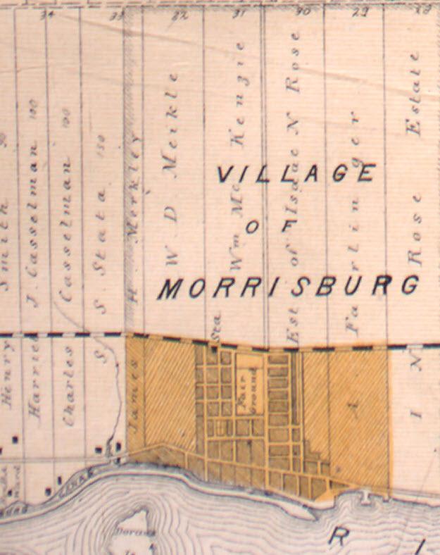 Morrisburg, Ontario, Canada, 1879 Map