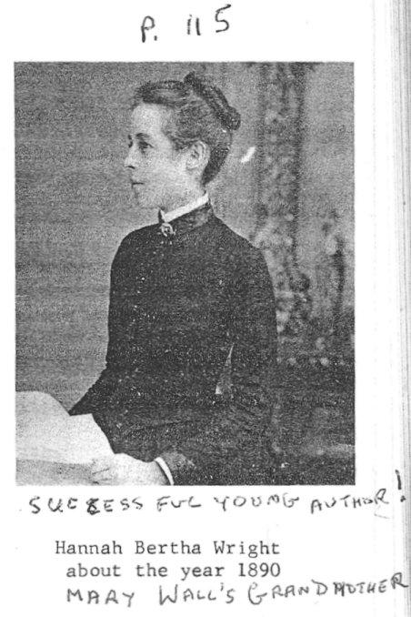 Hannah Bertha Wright, c. 1890