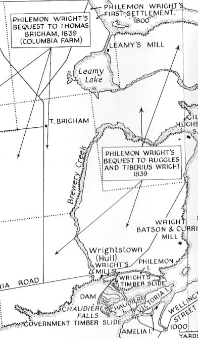 Map of holdings of Philemon Wright